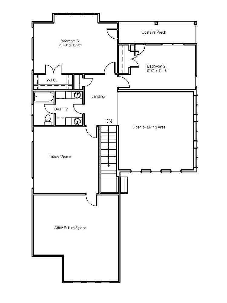 2976 Second Floor Plan