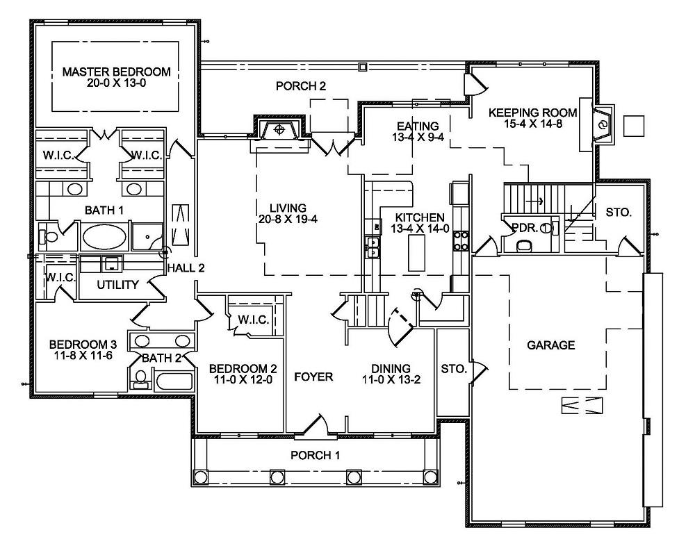 3411 First Floor Plan