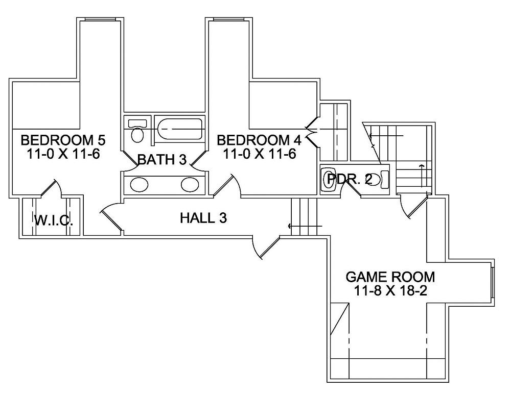 3411 Second Floor Plan