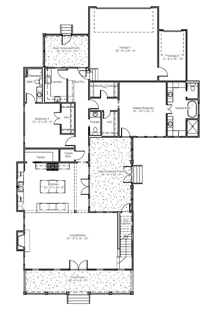 3544 First Floor Plan