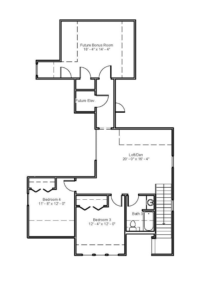 3544 Second Floor Plan
